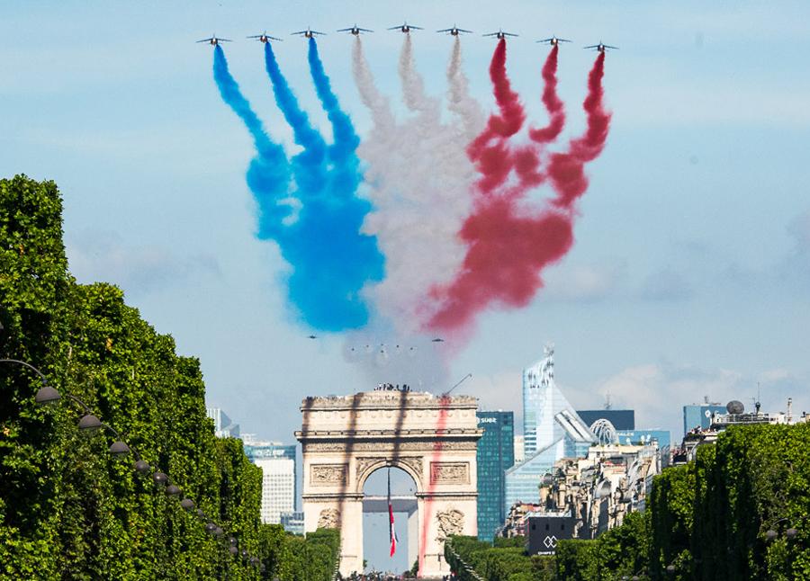 Défilé aérien de la fête nationale… Répétition Générale à Orléans