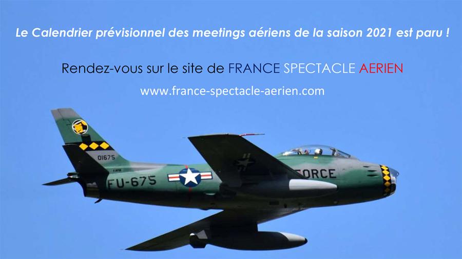 Calendrier 2021 des meetings aériens